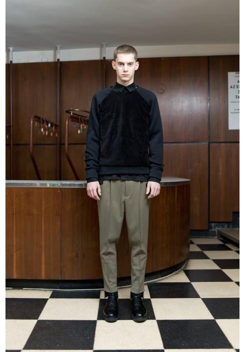 Corduroy Detail Raglan Sweatshirt