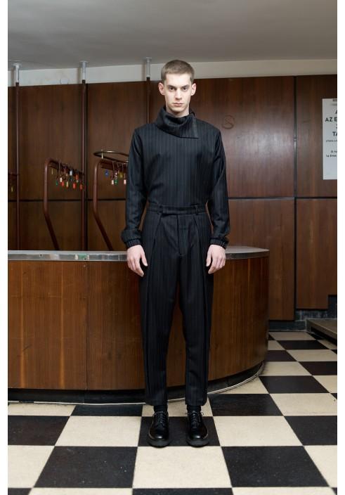 Huge Pleated Wool Trousers