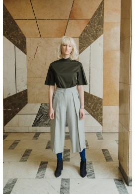 Huge Pleated Culotte Trousers
