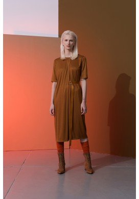 Golden Rust Layered Dress