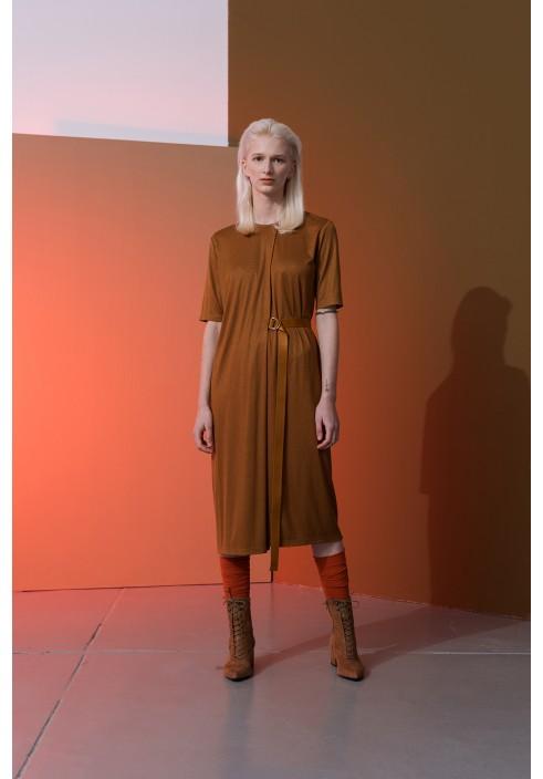 Golden Rust Layered Dress