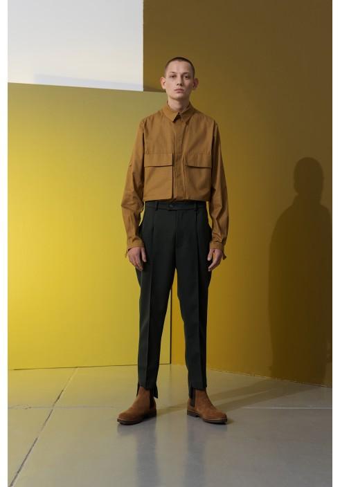 Huge Pocket Mustard Shirt