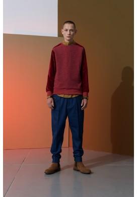 Maroon Plush Detail Raglan Sweatshirt