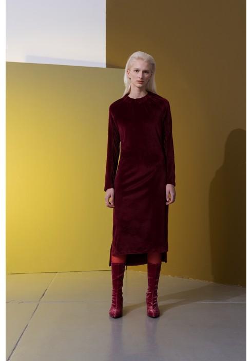 Plush Long Sleeve Raglan Dress