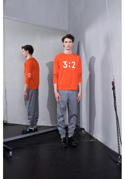3:2 Graphic Orange Sweatshirt