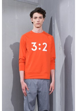 3:2 Graphic Orange Sweatshirt