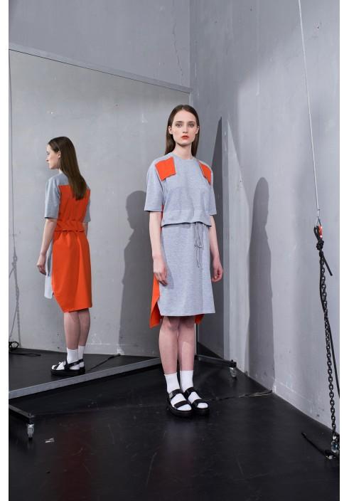 Colour Block Jersey Dress