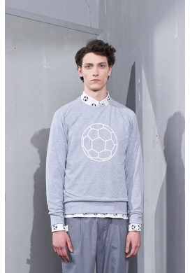 Football Graphic Grey Sweatshirt