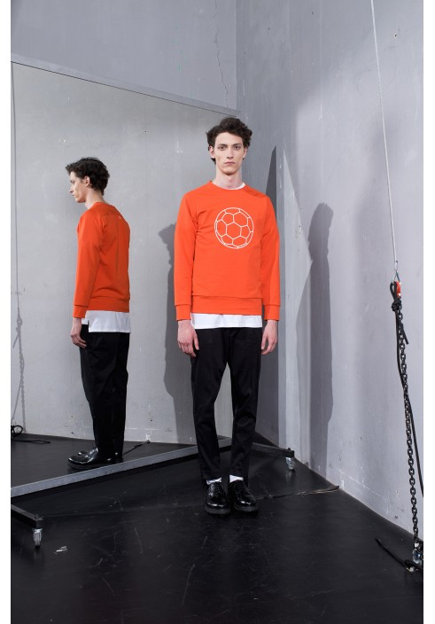 Football Graphic Orange Sweatshirt