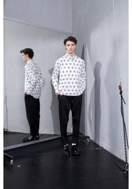 Football Print Long Sleeve Shirt