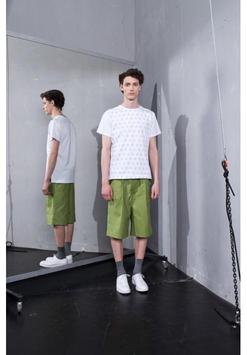 Drawstring Olive Bermuda Shorts