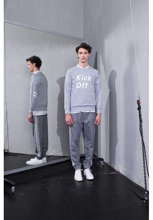 Kick Off Graphic Grey Sweatshirt