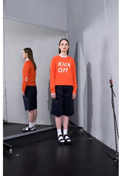 Kick Off Graphic Orange Sweatshirt