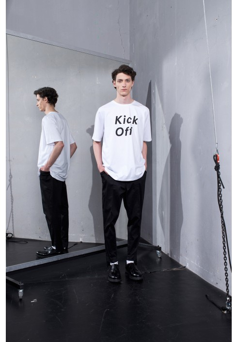 Kick Off Graphic White Oversize T-shirt
