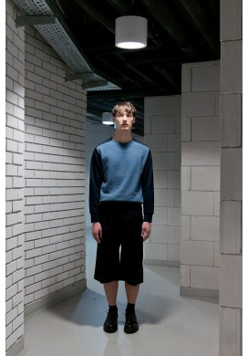 Blue Color Block Sweatshirt