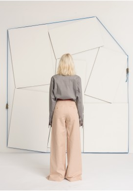 Huge Pleated Powder Long Trousers