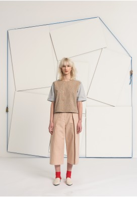 Huge Pleated Powder Culotte Trousers