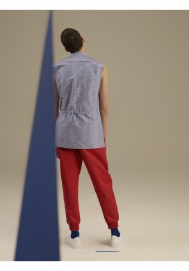 Drawstring Red Trousers