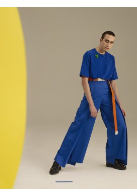 Huge Pleated Cobalt Blue Trousers