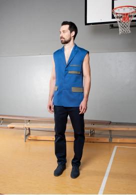 Hidden button line vest