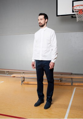 Built-in collar shirt